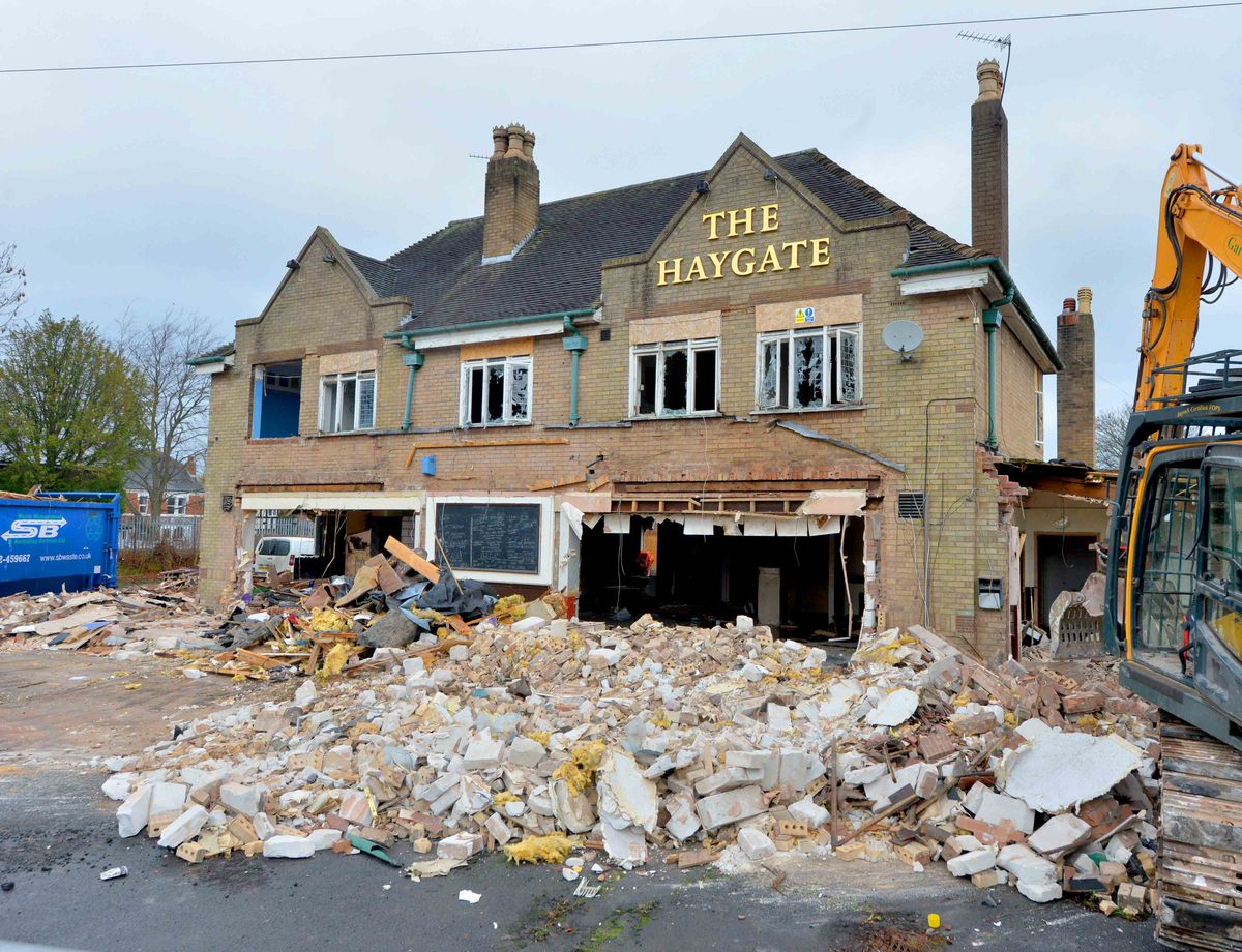 The Haygate pub was demolished in 2019