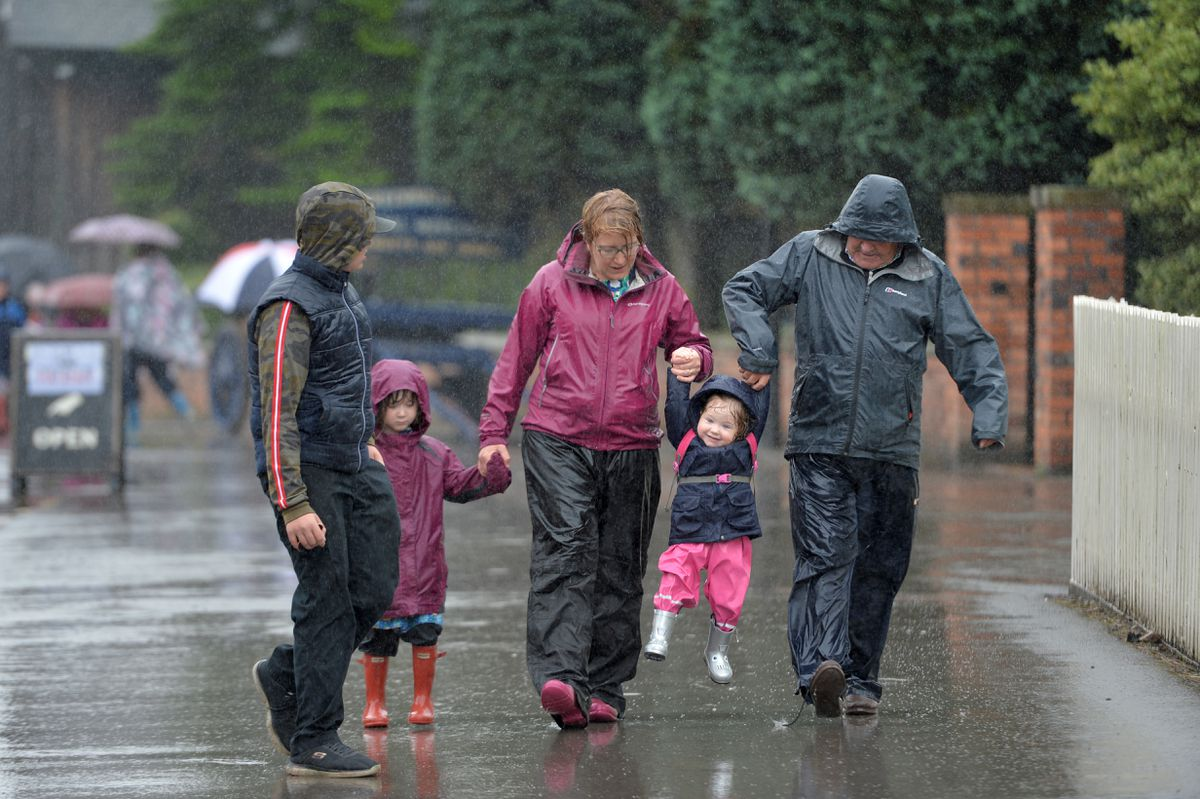 The rain couldn't dampen the spirits at Blists Hill