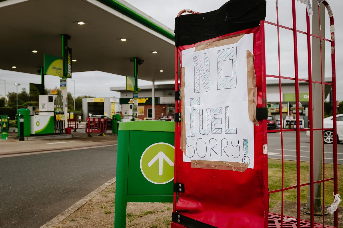 The BP station in Battlefield, Shrewsbury, had run out of fuel on Saturday morning