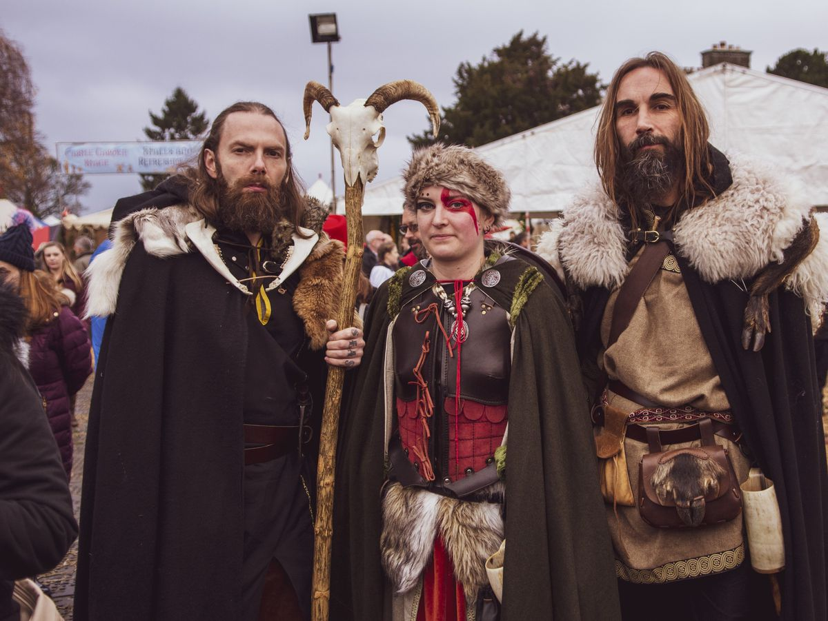 Sophia, Gabriel, and Creed from Ludlow Medieval Fayre regulars Odin's Rest Photo by Ashleigh Cadet