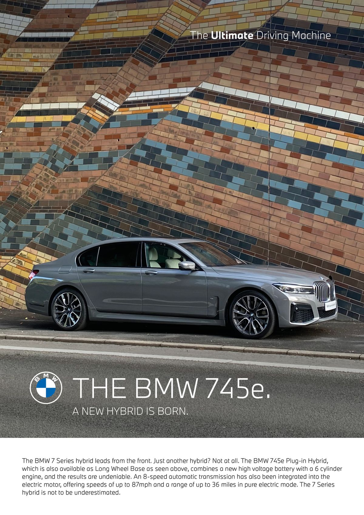The new recreation of the classic BMW poster