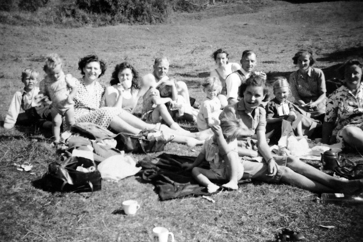 Flashback to August Bank Holiday 1949, when these ladies and their children from Hinkshay and The Finger at Dawley got the train at Stirchley railway station and, taking along a picnic, kettle, and teapot, travelled down the line to Coalport, where this photo was taken. While there they enjoyed a swim in the River Severn. Picture: Jean Hassall (who, as Miss Jean Oakley, was one of the group).