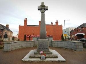 Market Drayton town centre's war memorial