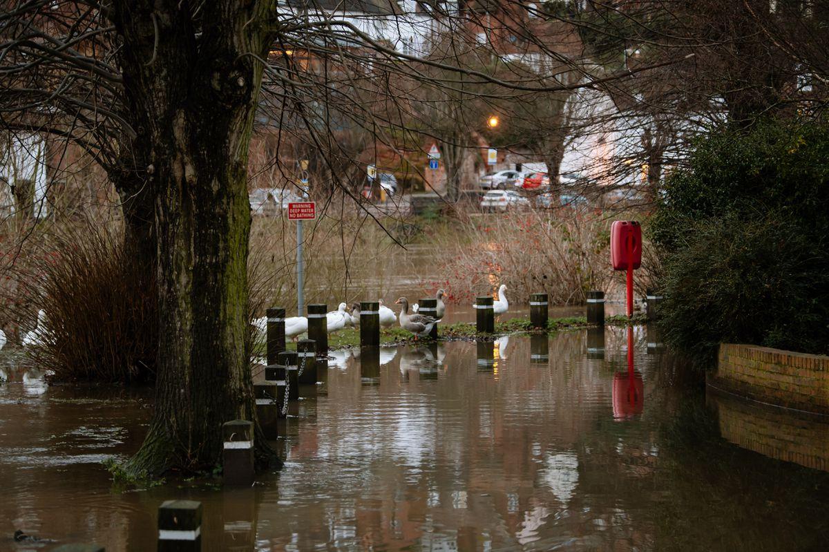 Flooding in Bridgnorth this week