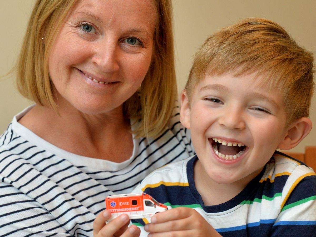 Josh Chapman, from Telford, saved his mum Caroline