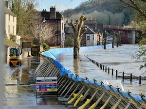 The River Severn at the Wharfage in February