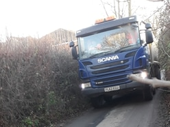 Anger after construction vehicles 'squeeze' down residential road to Ludlow development