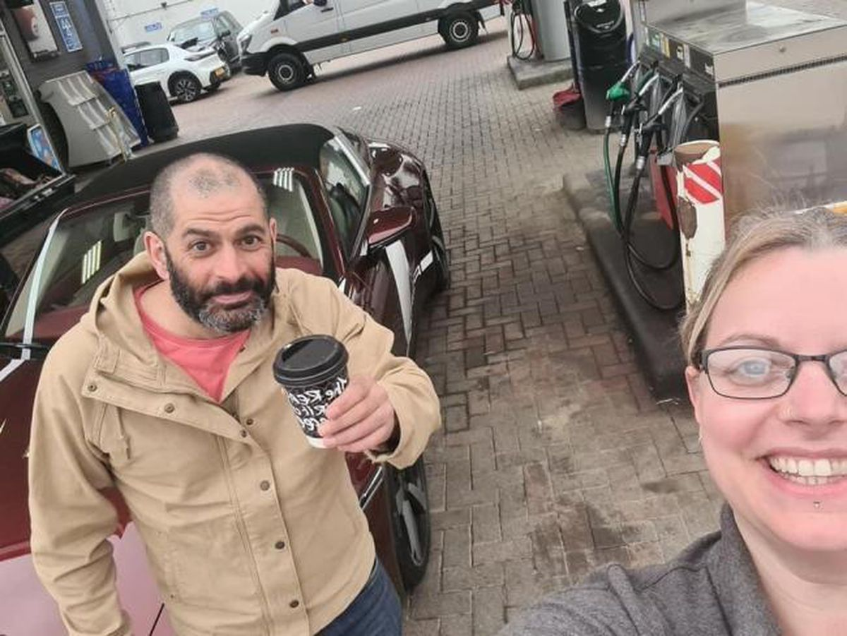 Lisa Crowther-James grabbed a selfie with Top Gear star Chris Harris