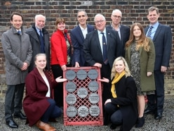 Businesses immortalised in iron after supporting heritage project