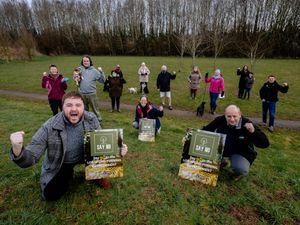 The group opposing the Longford Turning development celebrating the draft Tree Preservation Order
