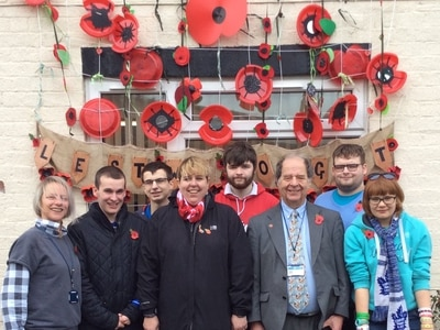 Students create remembrance display in Craven Arms