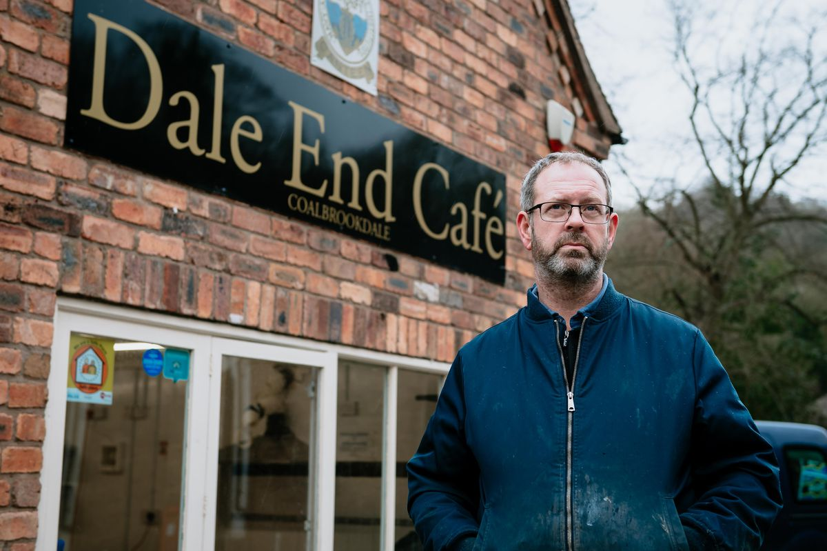Chris Harrison pictured at Dale End Cafe after severe river flooding in February