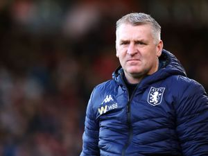 File photo dated 01-02-2020 of Aston Villa manager Dean Smith. PA Photo. Issue date: Friday October 2, 2020. Boss Dean Smith believes Aston Villa have given themselves the perfect platform for success after their summer spending. See PA story SOCCER Villa. Photo credit should read Mark Kerton/PA Wire.