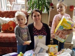 Nurseries hand over dozens of items to Telford Baby Bank