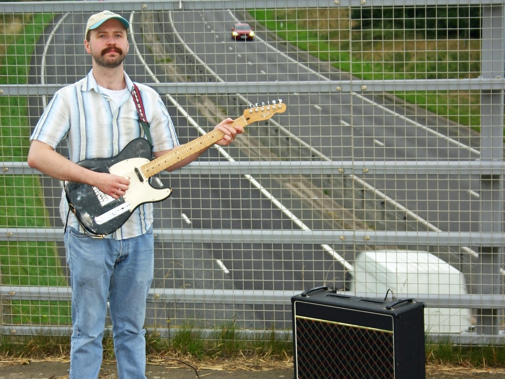 Shrewsbury-based singer Vin Whyte at Telford gig