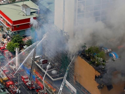 Manila hotel fire leaves three dead and two trapped