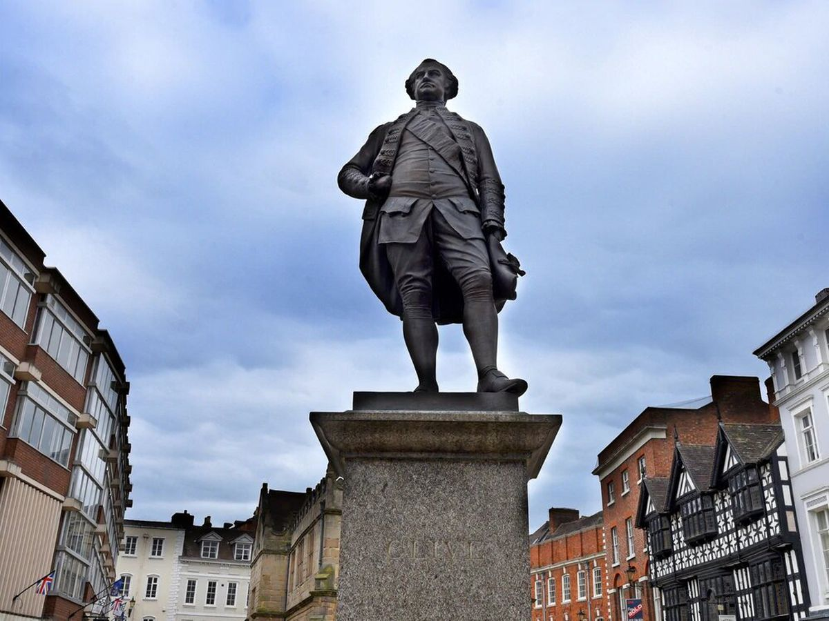 The statue of Robert Clive in Shrewsbury Square