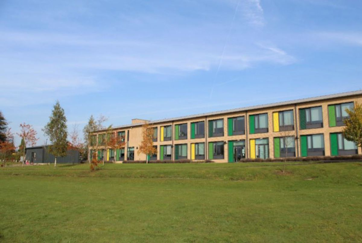 The new block will be sited on this land, south of the existing Telford Langley School building.