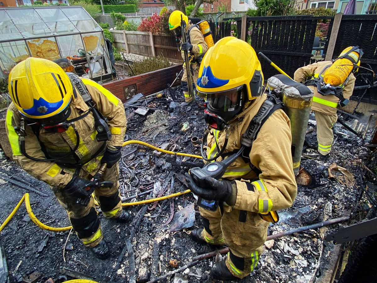 Fire crews at the scene. Photo: Market Drayton Fire Station