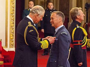 RAF officer from Shropshire talks of terrorist challenge as he collects his OBE