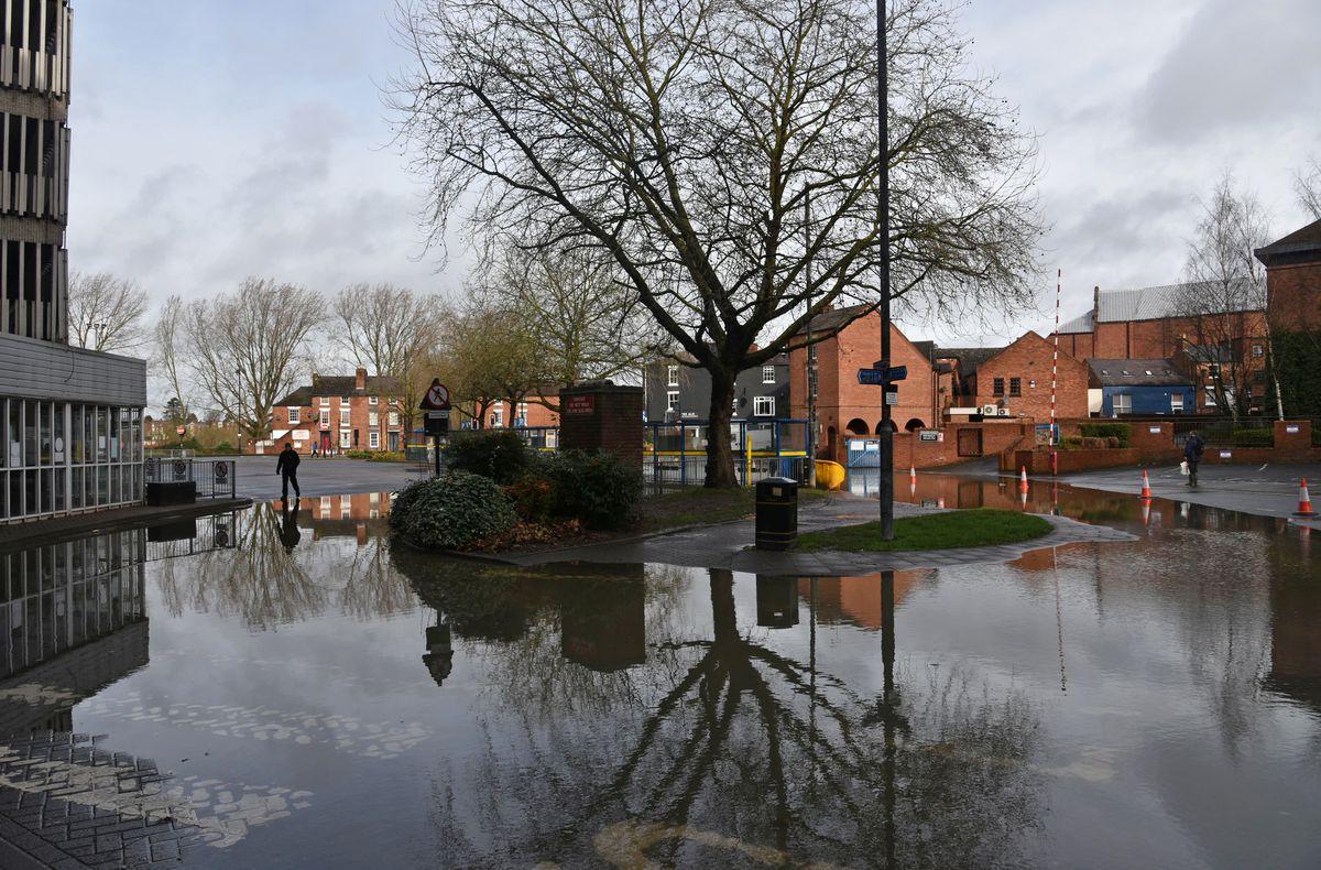 Flooding in Shrewsbury. Photo: Russell Davies Photography