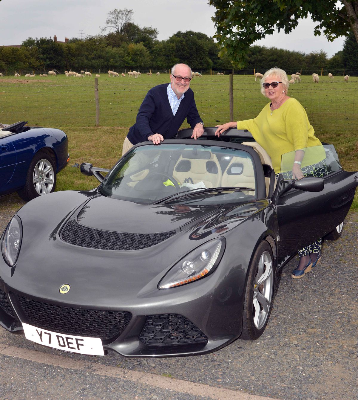 Martin Jones and Maggie Moss in a lovely 2016 Lotus Elise