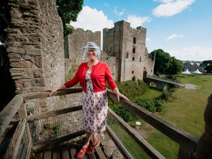 Custodian Sonja Belchere is delighted to see visitors back at Ludlow Castle