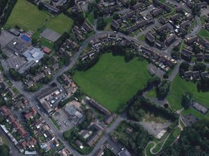 An aerial view showing Hills Lane Drive in Madeley. Photo: Google