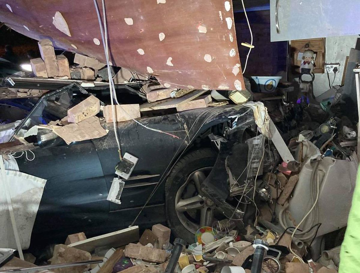 Images from Bridgnorth Fire Service show the devastation caused by the crash. Picture: Bridgnorth Fire Station