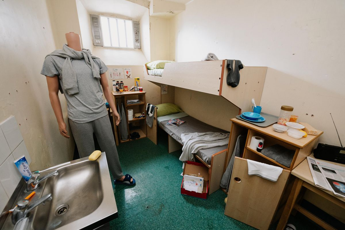 An example of a modern day cell at Shrewsbury Prison