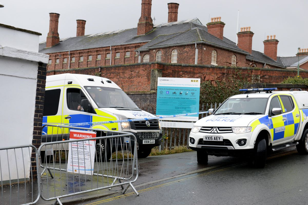 A strong police presence remained at the Buttermarket on Tuesday