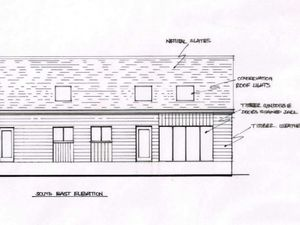 A graphic of how the log cabin at Bryn Hunllef could look
