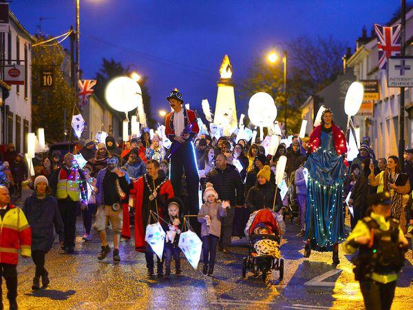 community lantern parade through the village of Royal Hillsborough