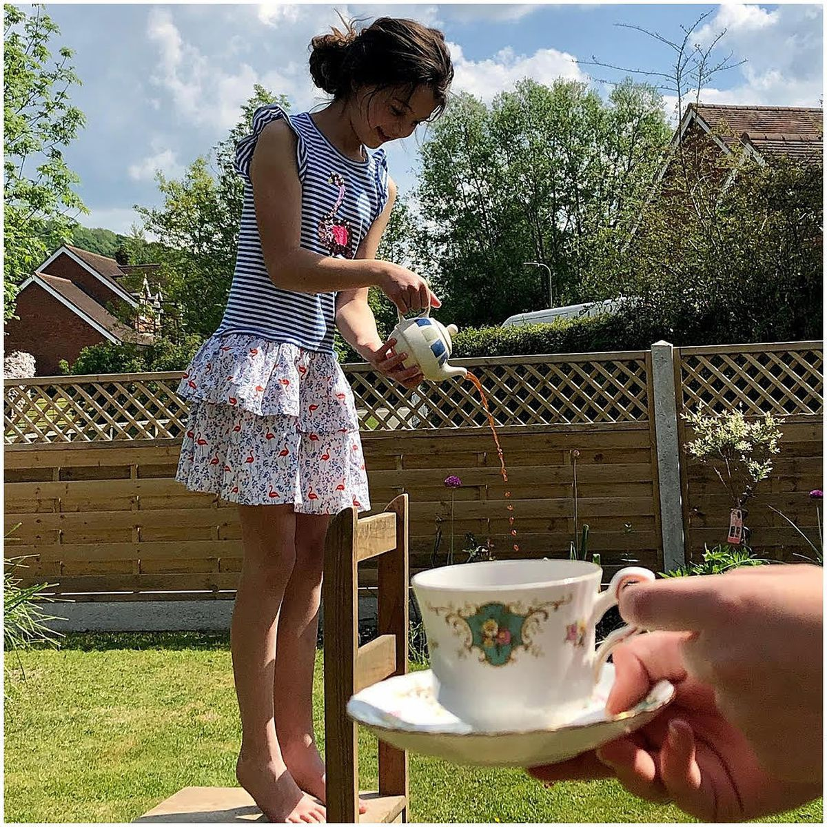 Anyone for tea? Julia Morgan took this creative shot of her daughter pouring into a cup