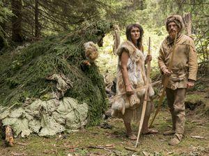 Naomi and Dan Walmsley took part in a TV Stone Age challenge. Picture: Colin Hutton