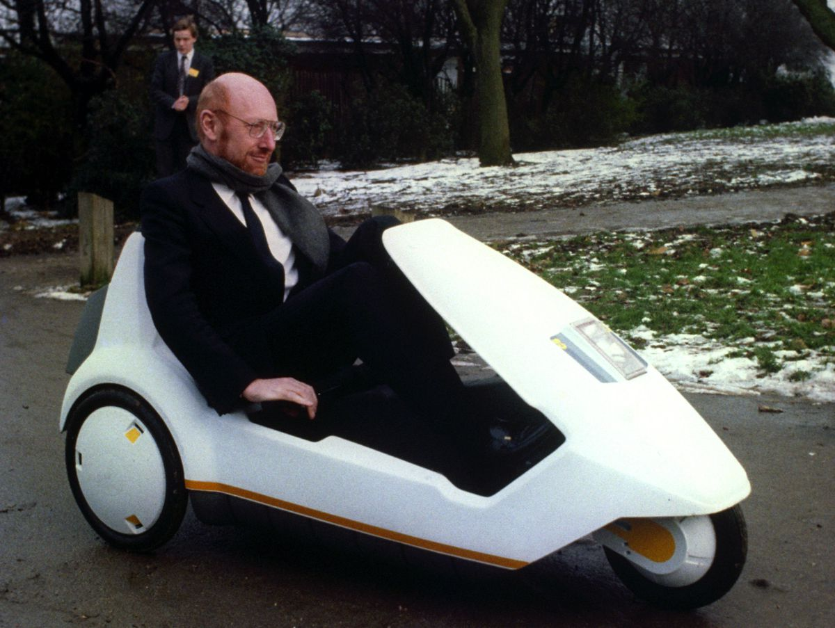 Clive Sinclair with his C5