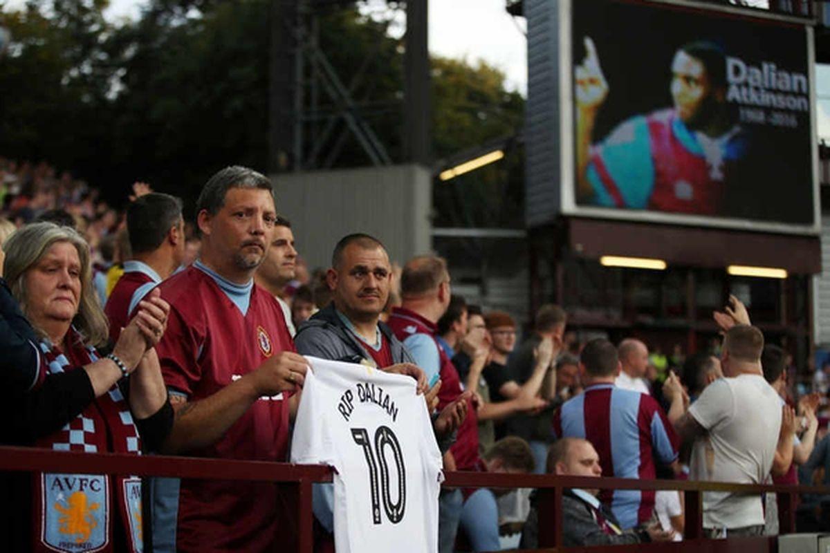 Villa fans pay tribute to Dalian Atkinson
