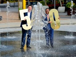 Water, light and art features unveiled in new public square for Telford town centre
