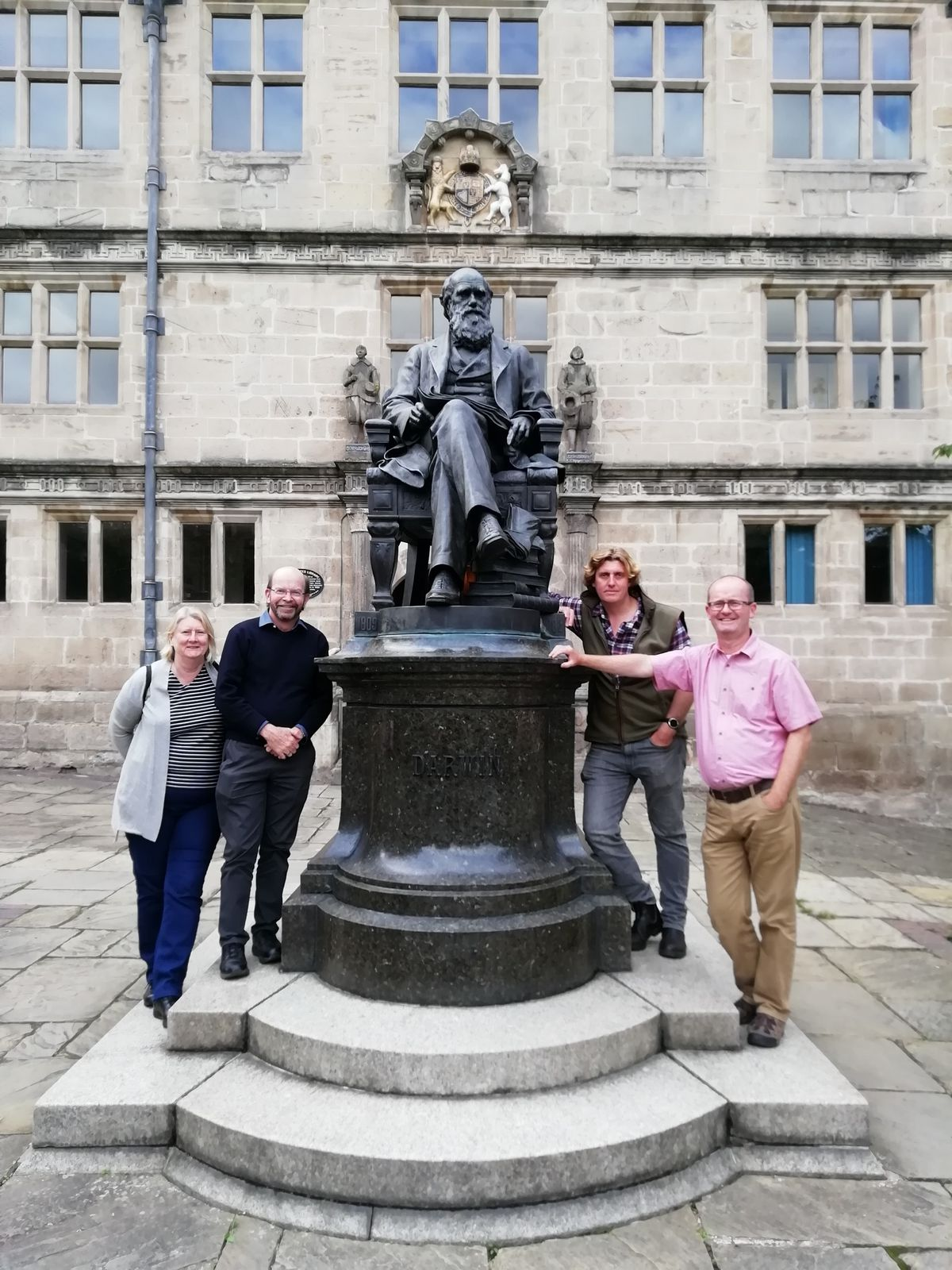 Professor Maddocks and his wife Vicky join Tim Jenkins, head of arts and humanities at University Centre Shrewsbury and Paul Kirkbright, deputy provost at UCS at Shrewsbury library