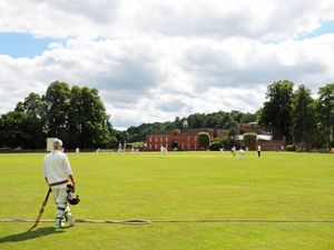 Enville cricket ground with Enville Hall as a backdrop in South Staffordshire. Photo: Graham Gough