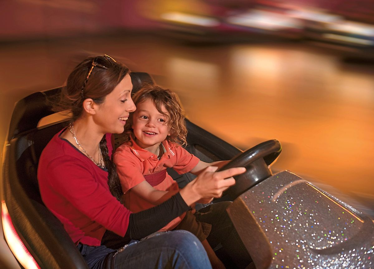 In the driver's seat – dodgems at Milky Way