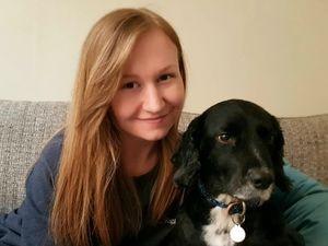 Zoe Bramham with her dog Millie