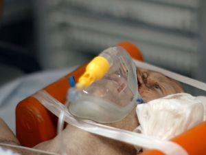 Chris Jones in hospital