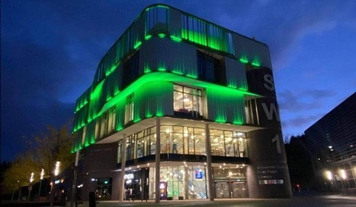 Southwater will be lit up green to celebrate the success in Telford