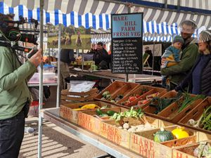 BBC filming Hare Hill Farm at Ludlow Market