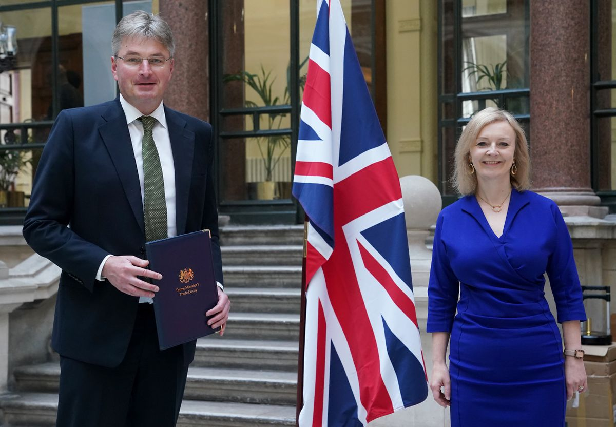 Daniel Kawczynski with Trade Secretary Liz Truss on his first day as the Prime MInister's trade envoy to Mongolia