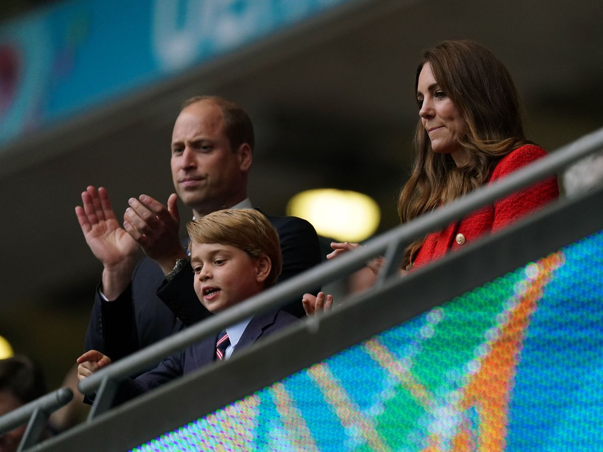The Duke and Duchess of Cambridge with son Prince George