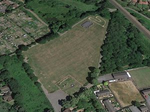 An aerial view of Greenfields Recreation Ground in Shrewsbury. Photo: Google