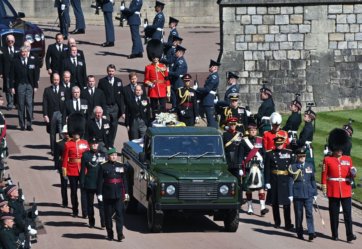 A purpose built Land Rover Defender carried the Duke along the procession route
