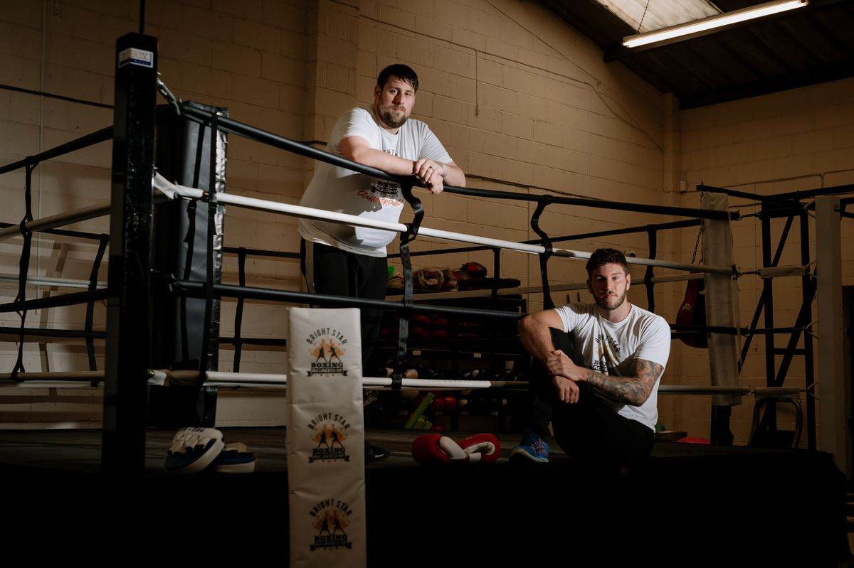 Stu Cook and Joe Lockley of Bright Star Boxing Academy in Shifnal are urging people to talk about their mental health